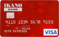 Ikano Visa Kredittkort rødt